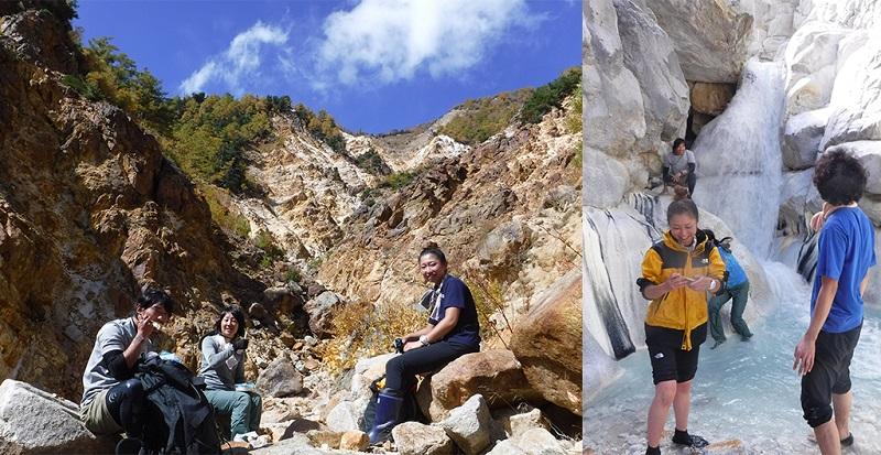 自然と一体化する楽しみがある伊藤新道の探訪ガイドツアー(提供写真)