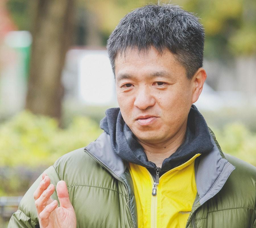 ハンゴーコンロ研究所の丹生さん。飯ごうへの熱い想いを語ってくれました。