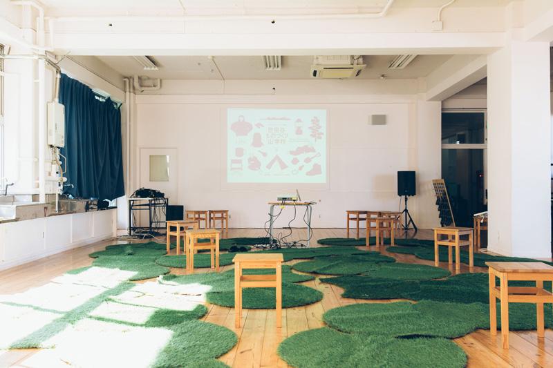 おなじみの会場、オープン前の世田谷ものづくり学校、2Fスタジオ。