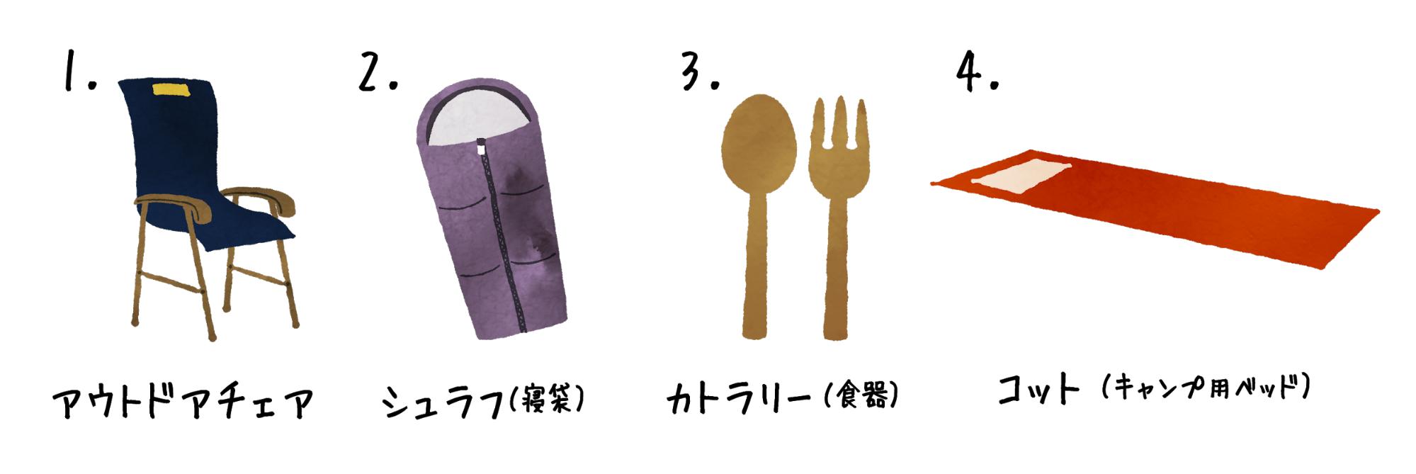 キャンプ用品、初心者が最初に買うならこの4種類!