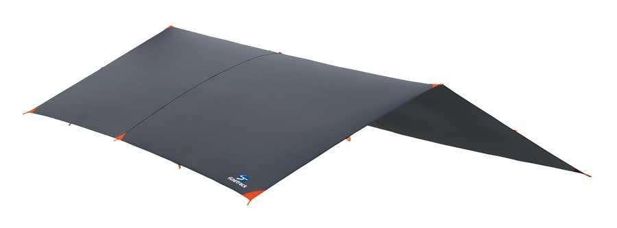 写真は、「ゴージュタープ」。360cm×280cmの大型サイズで、2~4人程度の使用に適している
