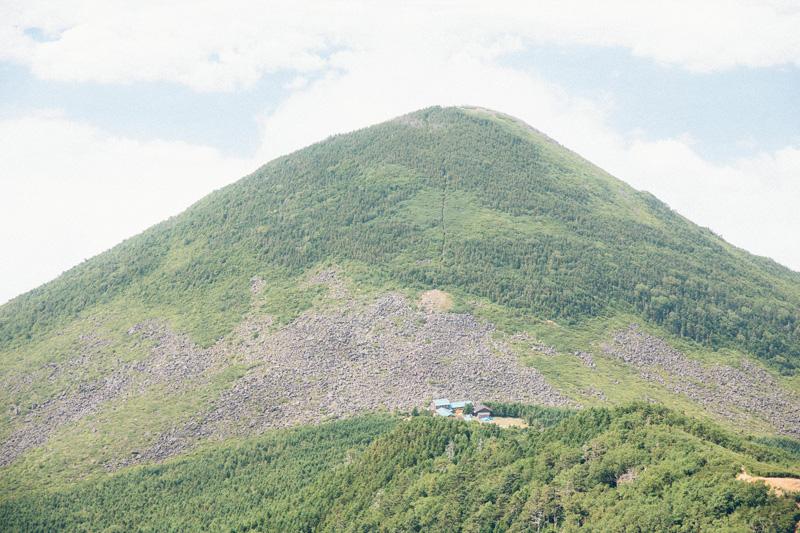 編笠山と青年小屋