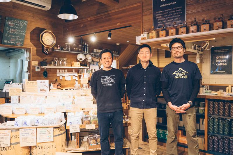 コーヒーは下呂市のgreen house coffeeがブレンド。松野さんとは旧知の仲で協力してくれていて、 感謝ばかりだという