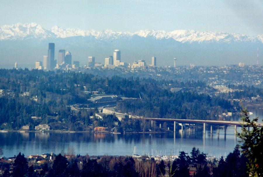 当時のシアトル遠景