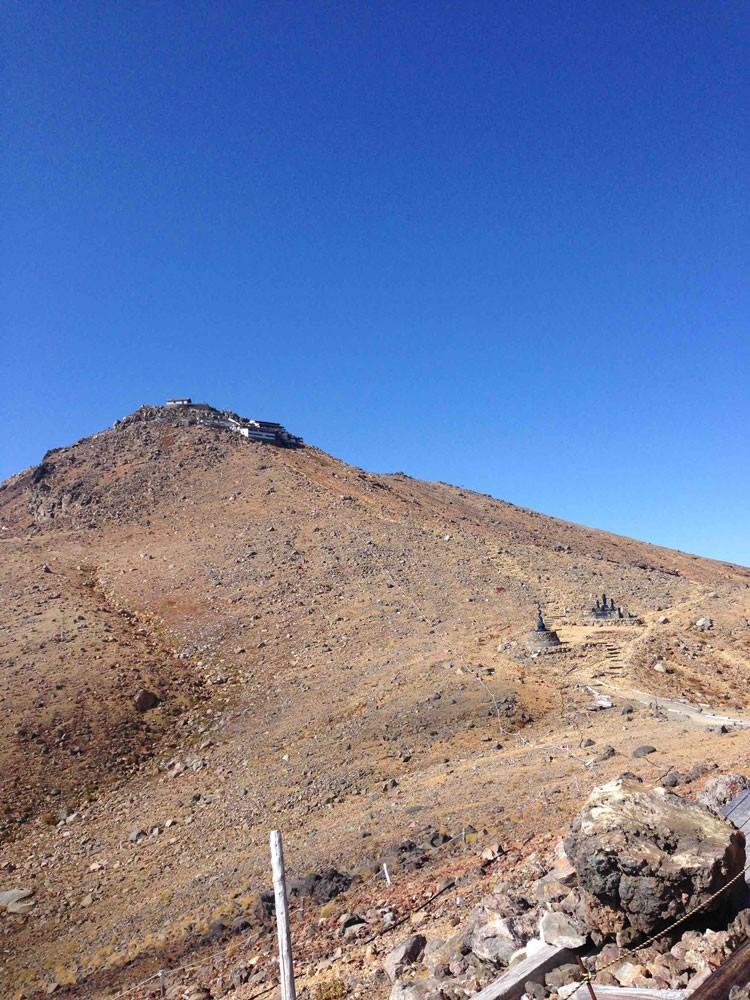 かつての御嶽山頂