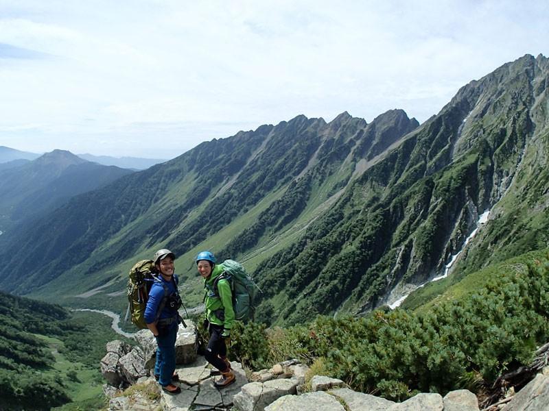 北アルプス・奥穂高岳(3,190m)に登ったときの様子