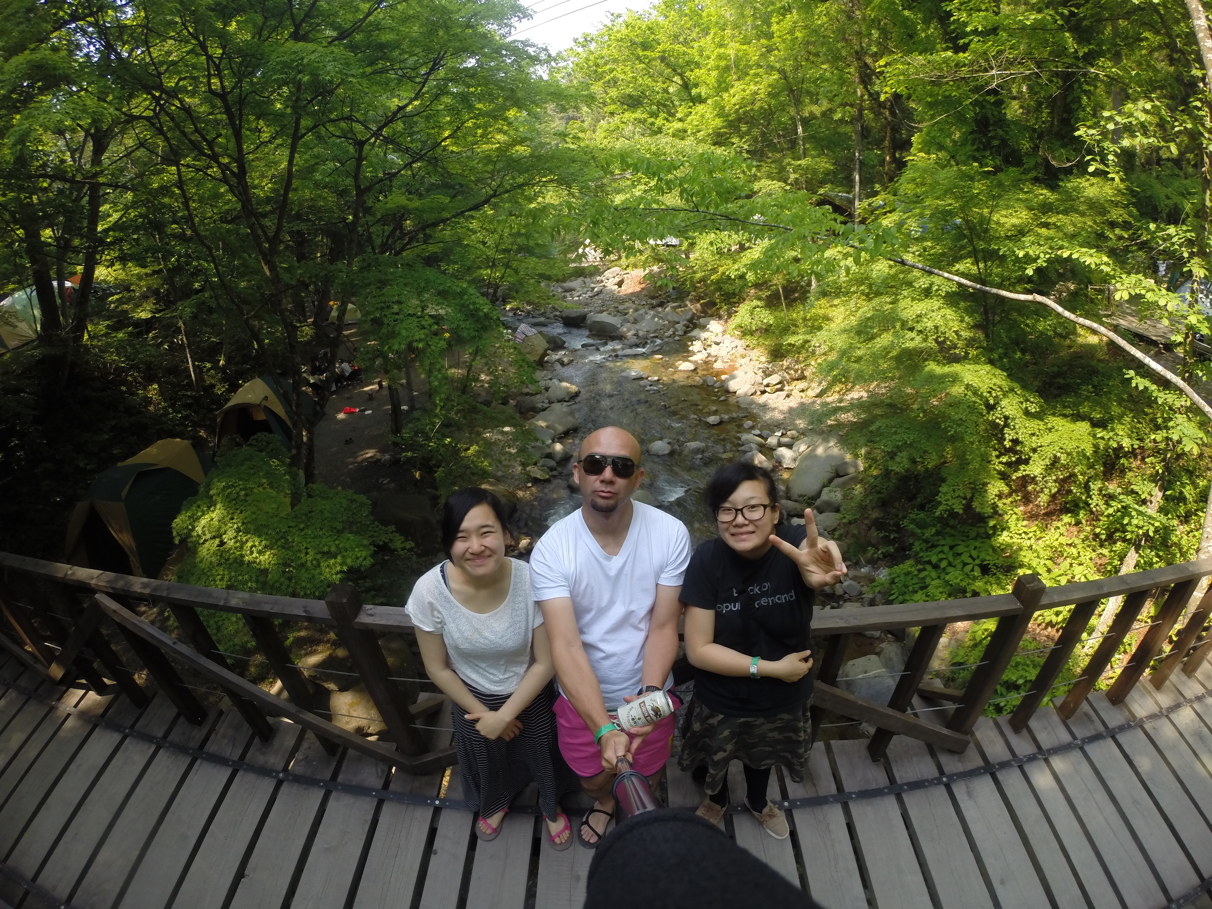 山梨県・道志の森キャンプ場で開催された「Natural High」に行った時の様子(写真:渡辺さん提供)