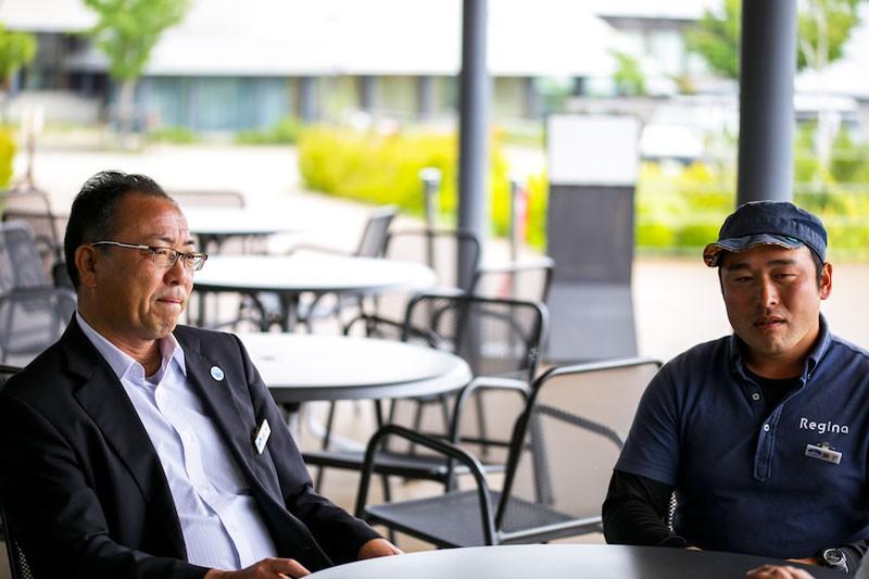 (左)代表の田代さん、(右)キャンプ場マネージャーの兼子さん