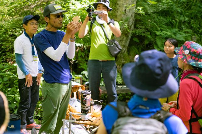 信州登山案内人、原村エコツーリズムガイド世話人の石川高明さん