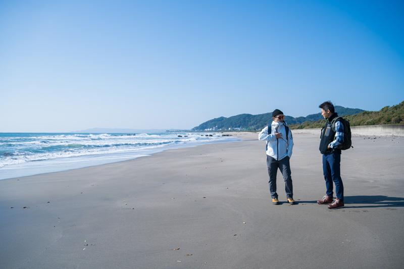 (左)俳優:田村幸士 (右)廣瀬染工場 四代目 廣瀬雄一