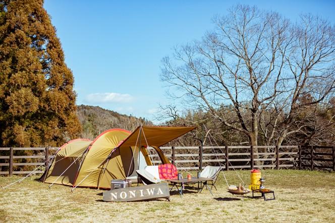 おしゃべりしながら設営することおよそ1時間。快適キャンプサイトの完成です