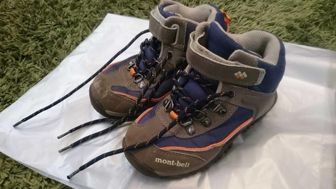 (提供写真)こまきちゃんの靴はmont-bell。安心の定番アウトドアブランド。