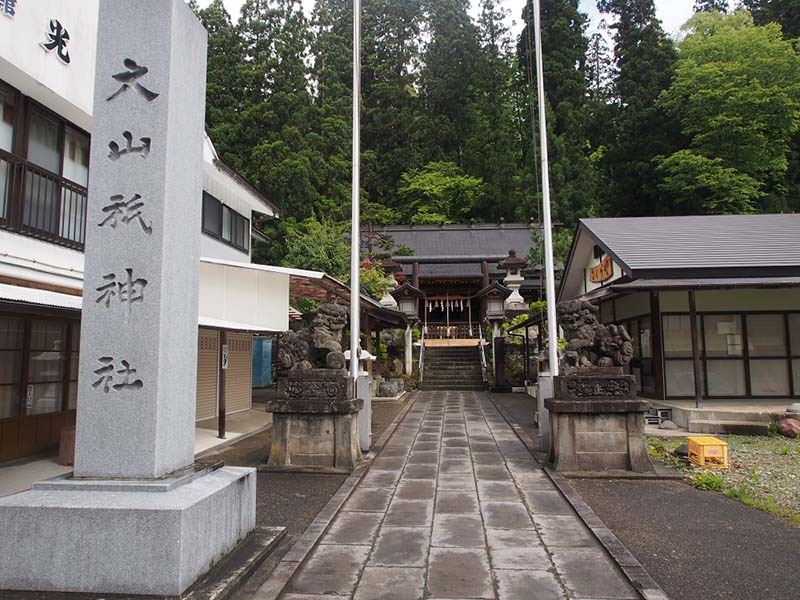 大山祇神社の遙拝殿。ここからスタートします