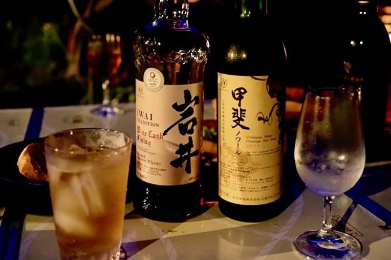 ビールの後は「岩井トラディション」のワインカスクフィニッシュと、お隣の山梨県にあるマルス山梨ワイナリーで造られる「甲斐ノワール」を。