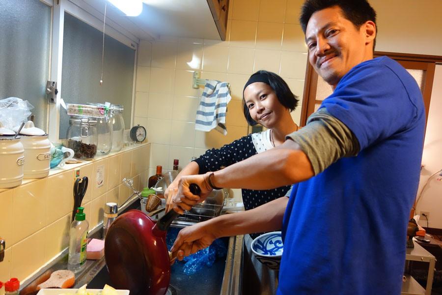 タイ料理を作ってくれるCとAir