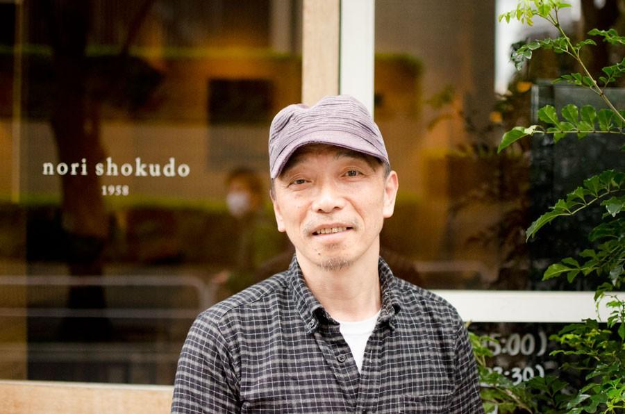 """nori shokudo""の山下範昭さん"