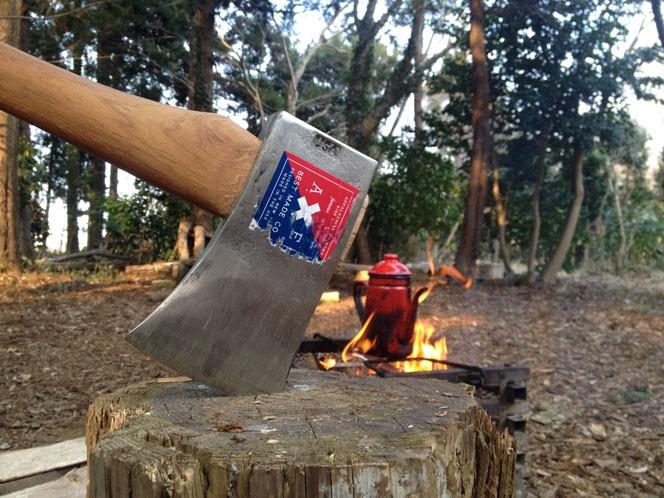 秘密の森では様々な焚火道具を試します