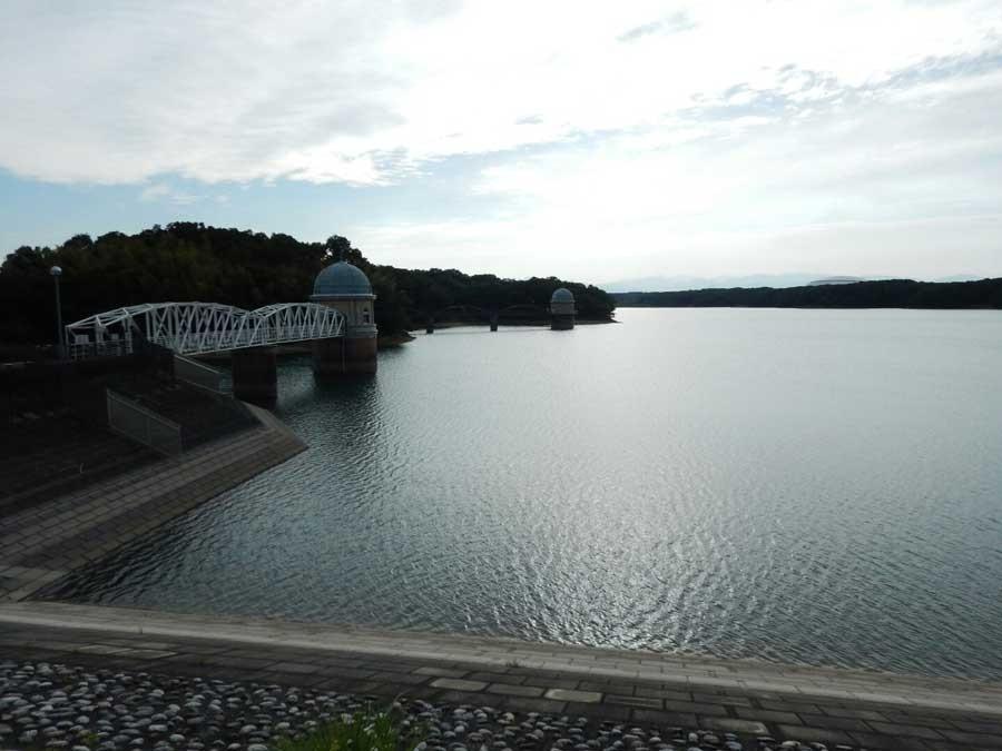 多摩湖も狭山公園からは眺めることができます。 湖を横切るように橋が架けられ右左に広がる多摩湖を眺めることができます
