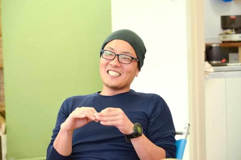 企画・営業担当の樋口壮一郎さん。2014年の夏頃に新加入