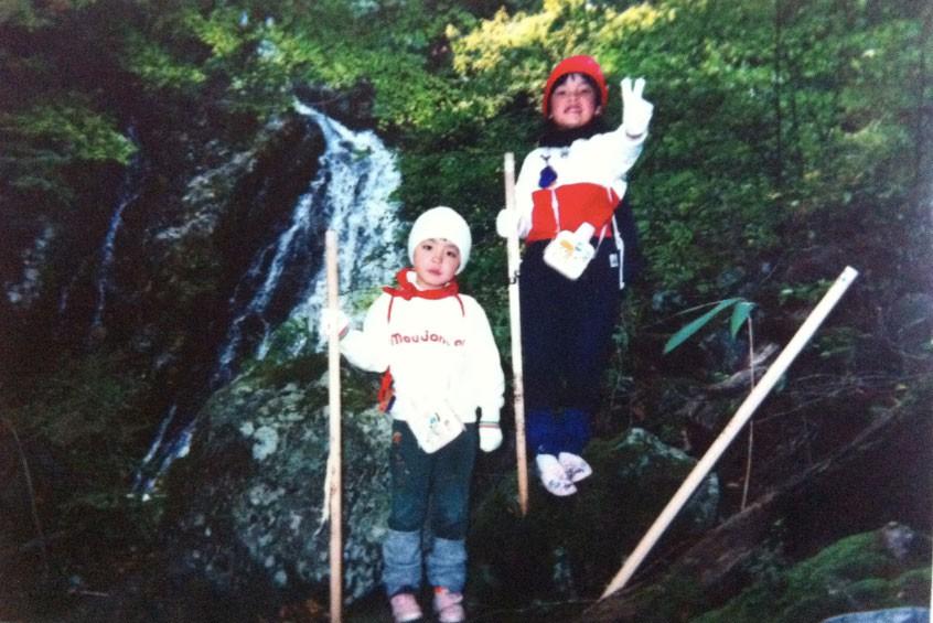 5歳のときの弥山登山 右が弥山さん