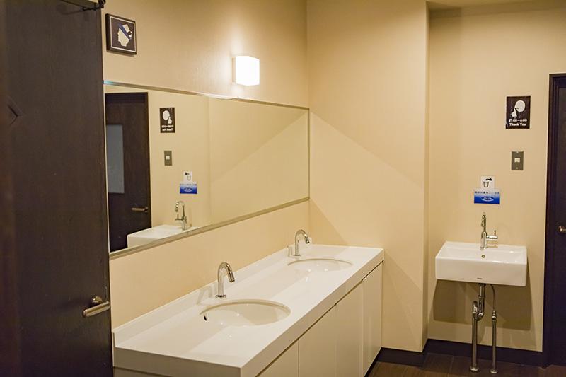 洗面所はお湯が出るように変更した。目に見えない部分にも、宿泊者への気配りが感じられる