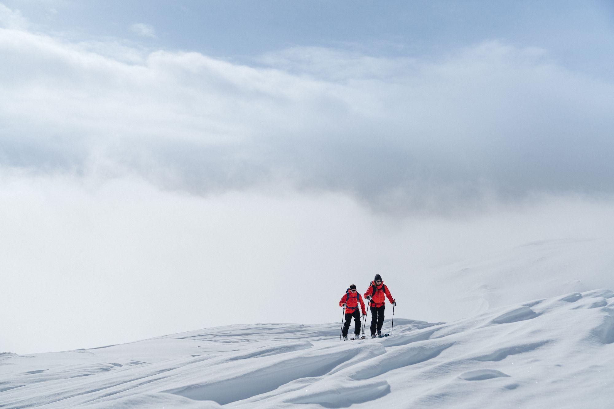 雪山でのテストの様子