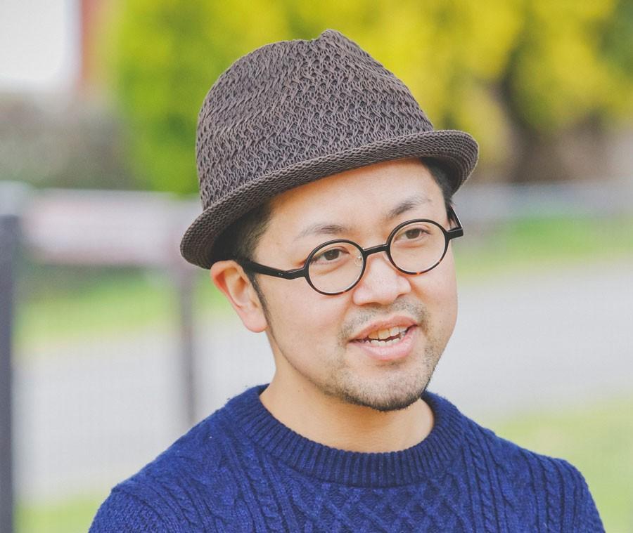 語り部プロジェクトの武藤さん。「今日はたくさん炊きます。」
