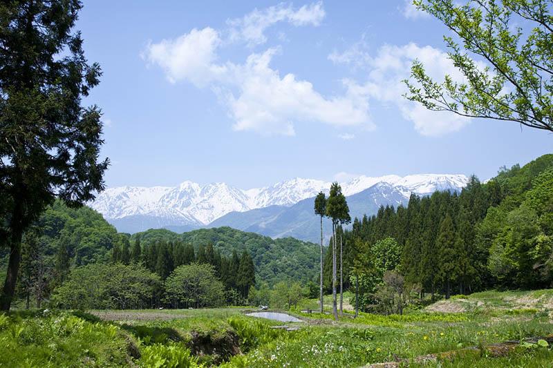 美しい自然が広がる長野県小谷村