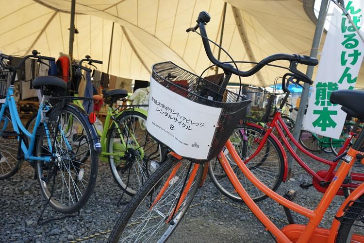 1日単位でレンタルできる自転車