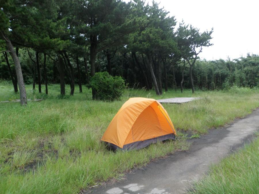 諏訪之瀬島のキャンプしていた場所