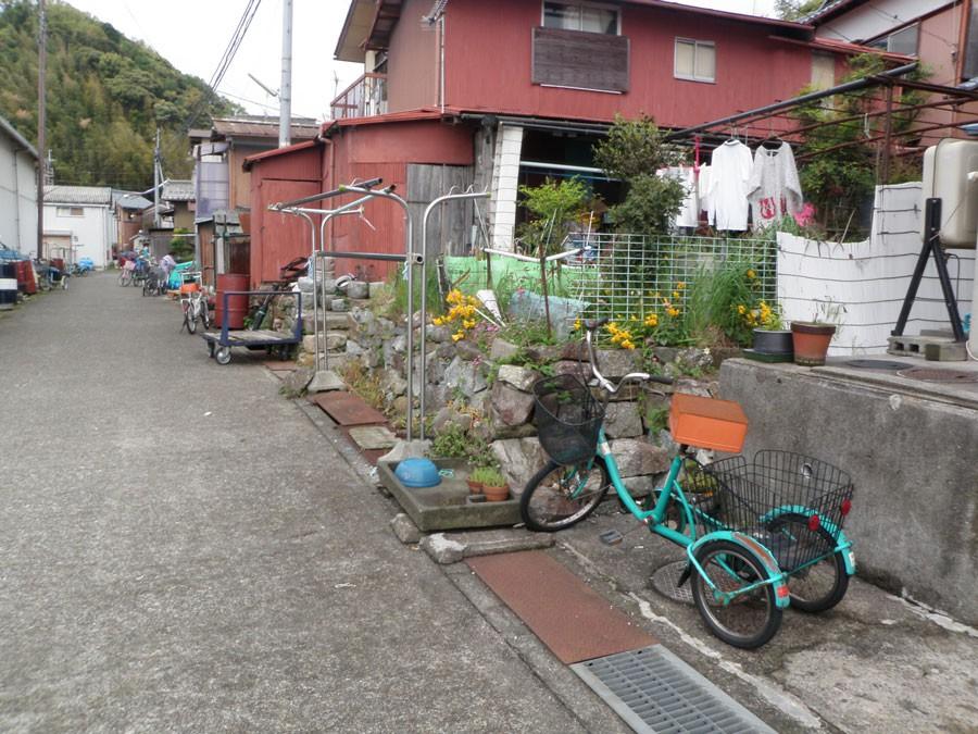 不思議な自転車が何台かある