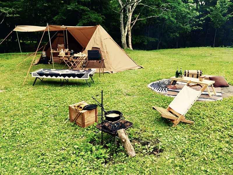 キャンプにもこだわりは十分に表れている(提供:沙彩さん)