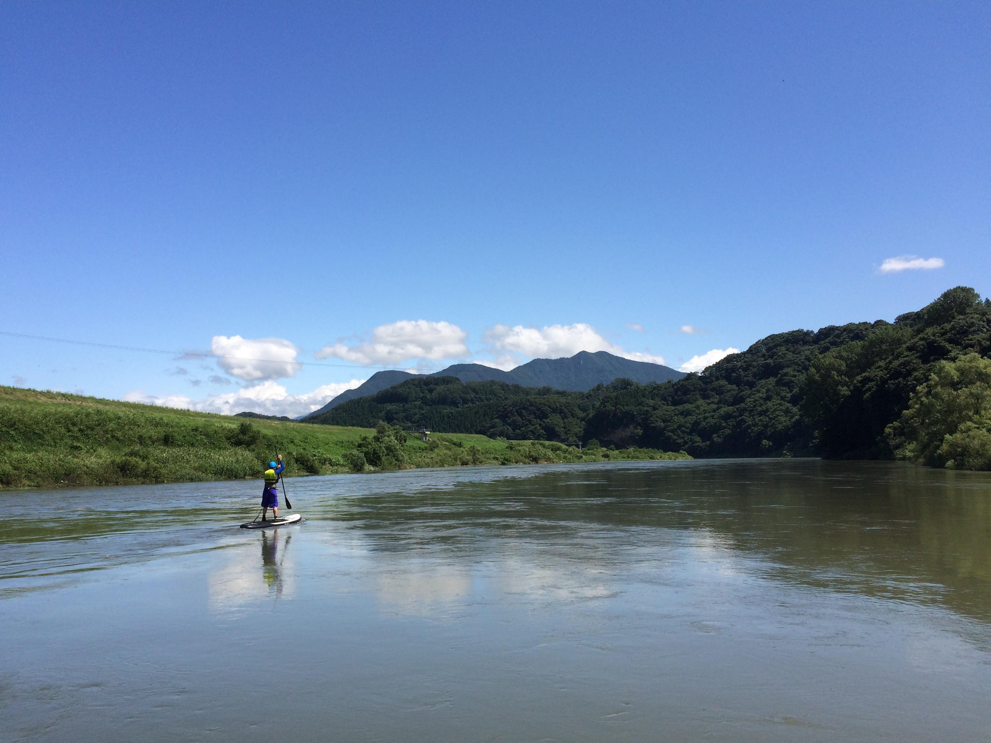 川幅の広い本流ではゆったりクルージングを楽しめる