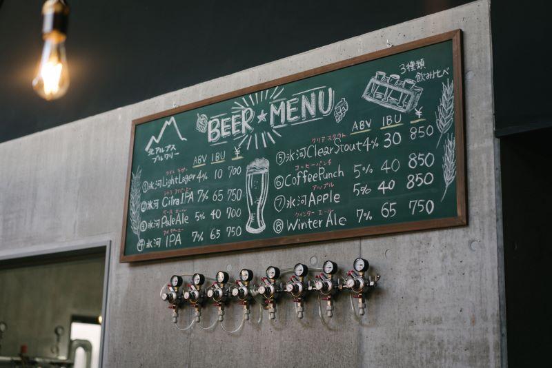 ライトラガーからIPAまでスタイルの異なる8種類のビールがラインナップ