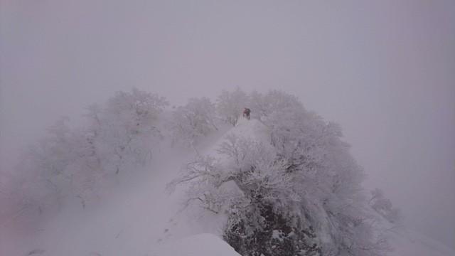 その時の粟ヶ岳登山の様子