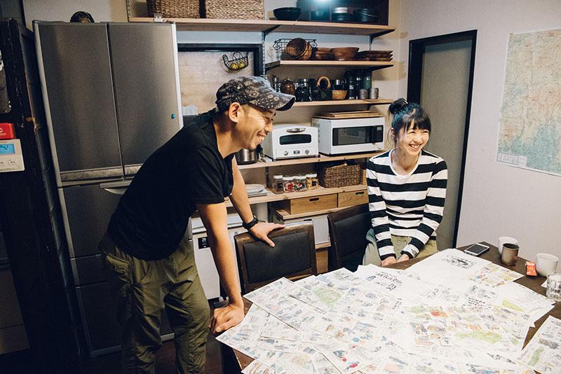 (左)ヤマガスキナダケさん・(右)奥さんのミワさん