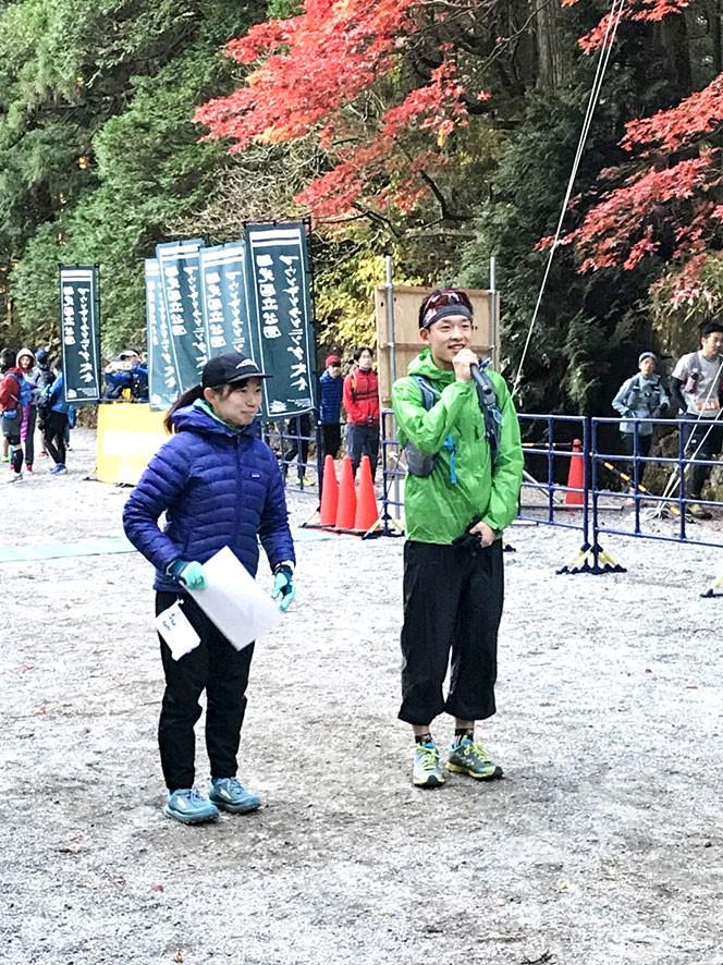上田瑠偉選手の挨拶とコースディレクターの星野由香里選手