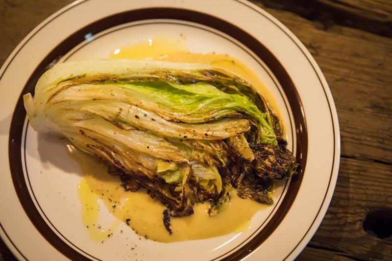 無農薬野菜の旨みを生かした「松島白菜とゴルゴンゾーラソース」 (800円)