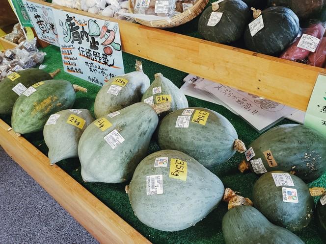 阿智村の伝統野菜「清内路かぼちゃ」。保存会が大事に種を守って栽培している(提供写真)