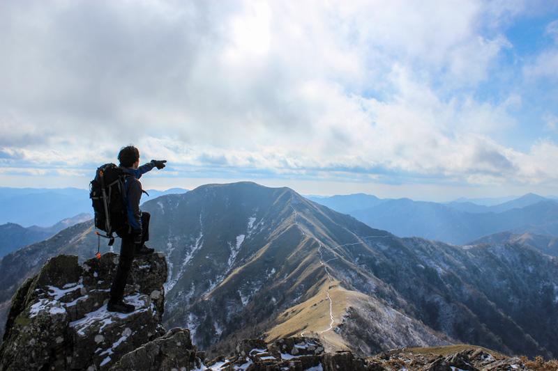初めて四国で登った徳島県、剣岳。