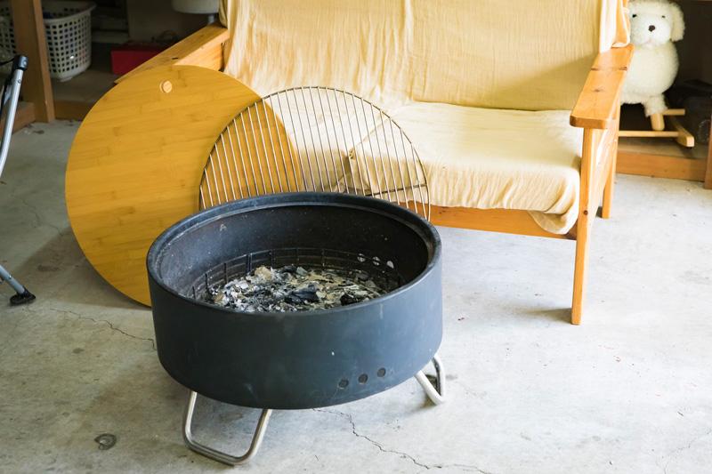 竹天板を乗せるとローテーブルになるスグレモノ