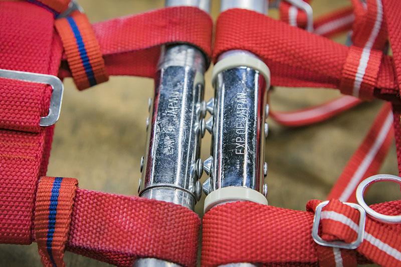 この冬アップデートした「スノーシューズ シリーズ」は、干渉によるベルトのダメージを減らすリングを標準装備に。素材も耐久性のある塩化ビニールに変更した