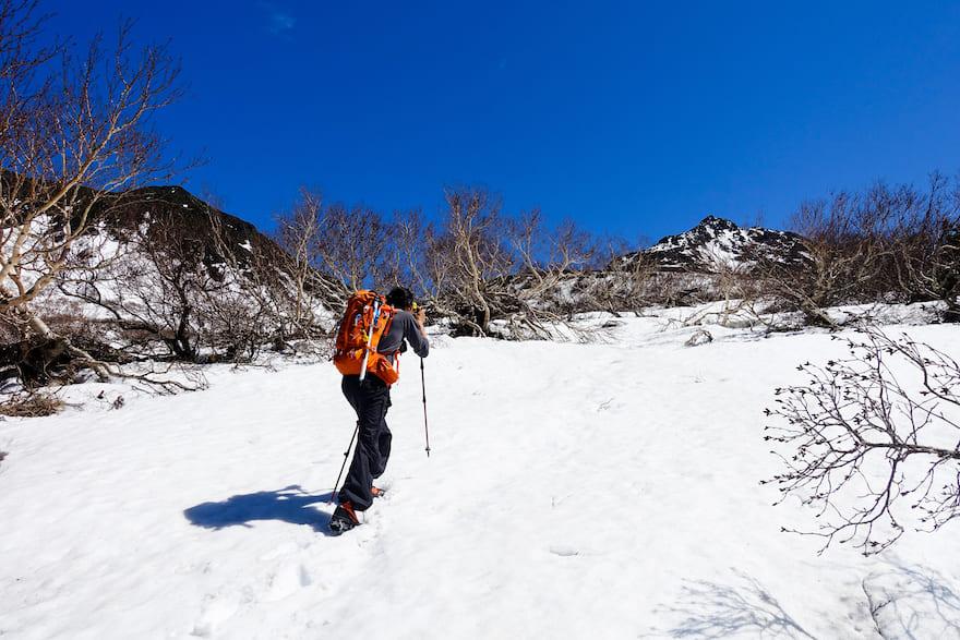 羅臼岳 羅臼岳の頂きがひょっこりと顔を出す