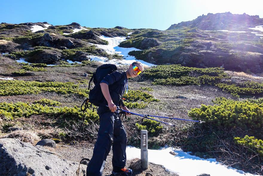 羅臼岳 岩清水分岐から夏道に復帰