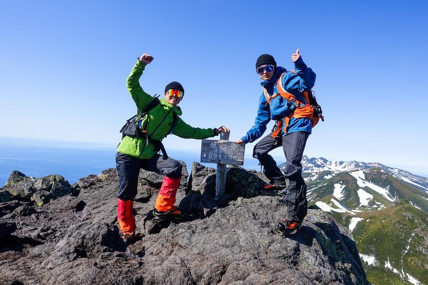 羅臼岳登頂!
